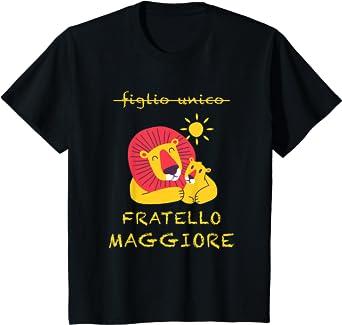 Bambino LEONE FRATELLO MAGGIORE 2021 RAGAZZO FIGLIO UNICO Maglietta