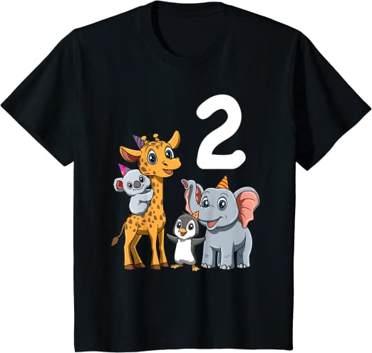 Regalo Di 3 Anni Maglietta Bambino 3 Compleanno Bambini /& Zoo