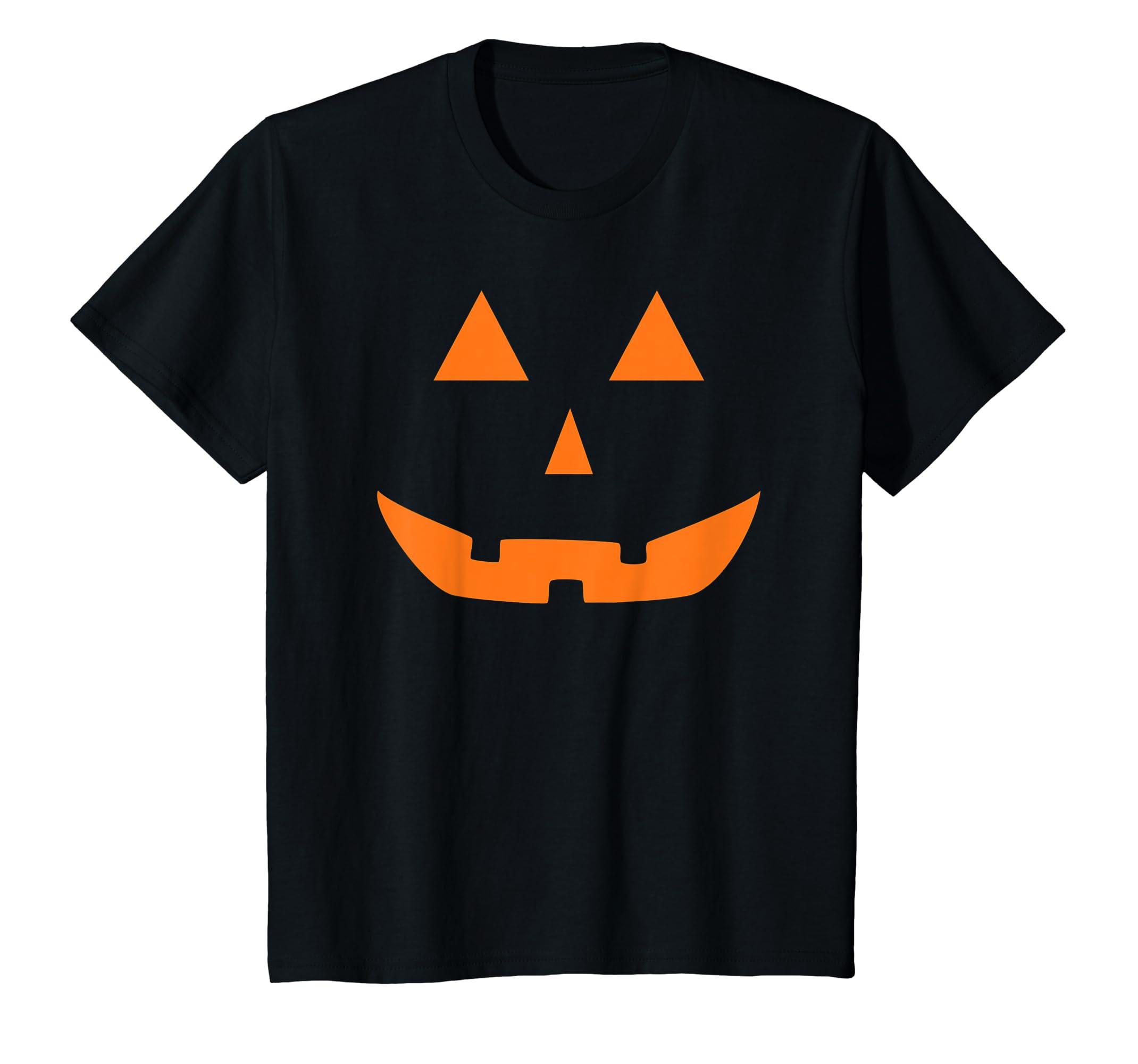 b689ba12159 Amazon.com  Jack O  Lantern Pumpkin Halloween Costume T-Shirt Funny   Clothing