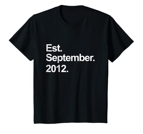 Kids Est September 2012 Shirt Awesome 6th Birthday Gifts TShirt