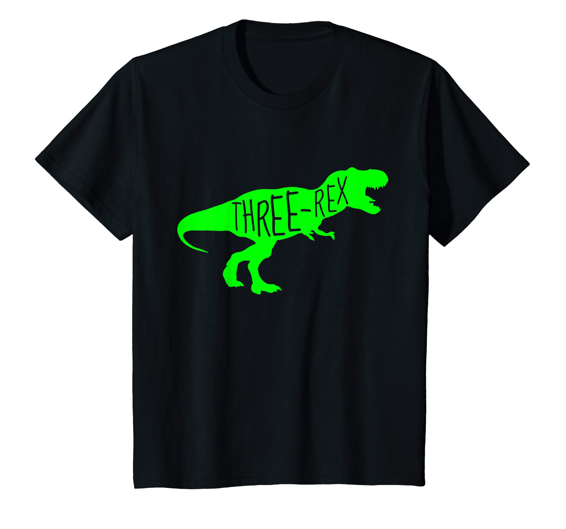 Amazon Kids 3 Year Old Birthday Boy Gift Shirt Dinosaur Three Rex Green Clothing
