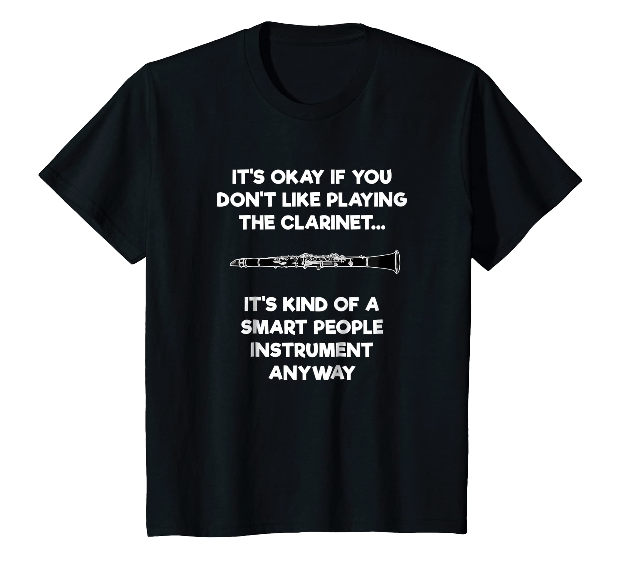 2bfe2ef9e Amazon.com: Clarinet T-Shirt - Funny Smart Clarinet Player: Clothing