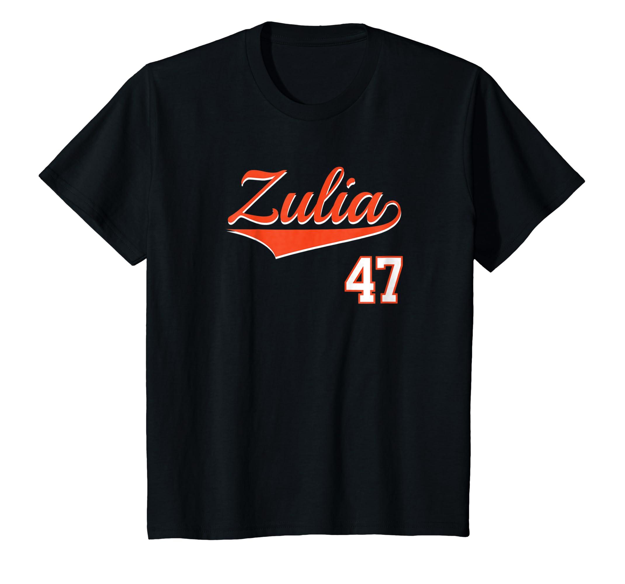 Amazon.com: Zulia Baseball Jersey T-Shirt Franela Beisbol Venezuela 47: Clothing