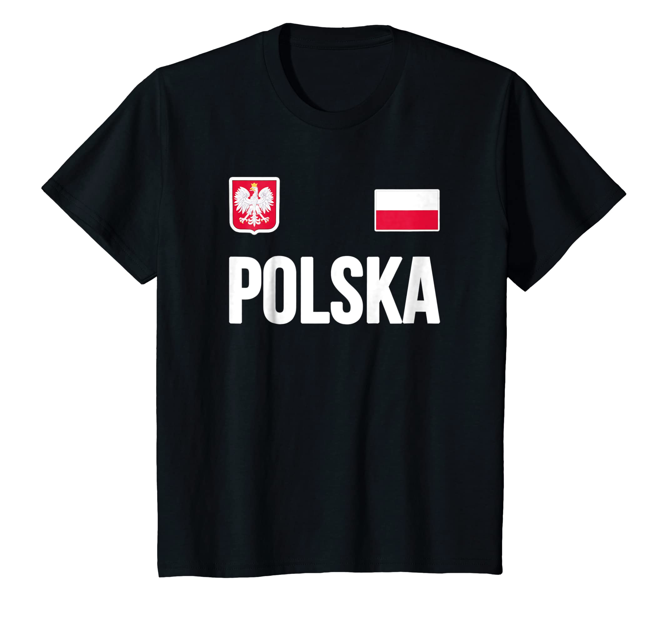 2306506f6af Amazon.com  Poland T-shirt Polska Polish Flag Soccer Football Fan Jersey   Clothing