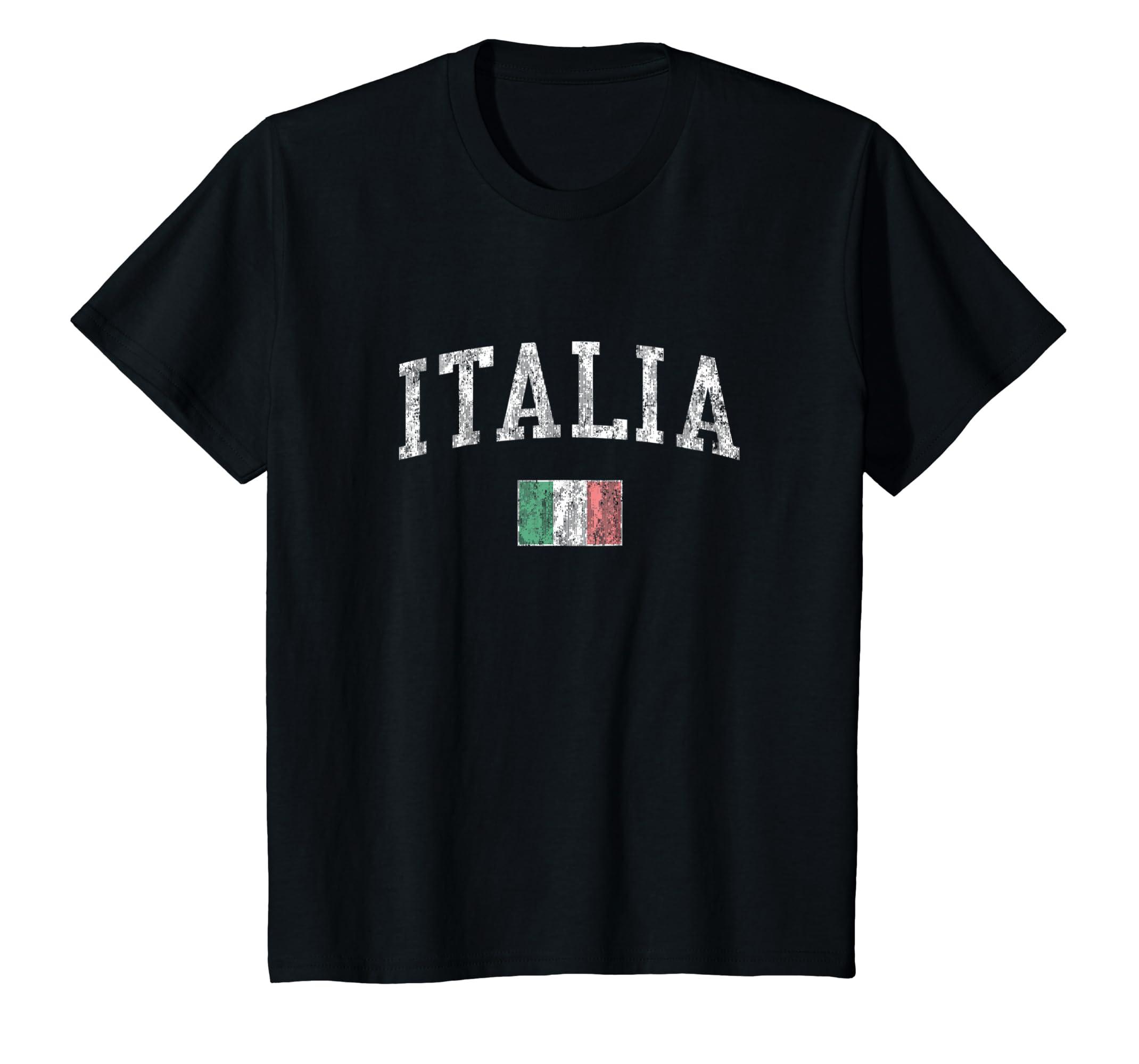 Amazon Italy T Shirt Vintage Italia Sports Design Italian Flag