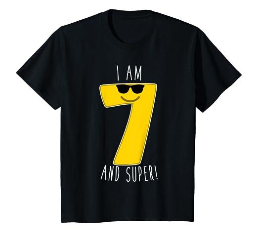 Amazon Kids Emoji 7th Birthday Number T Shirt Fun Seventh