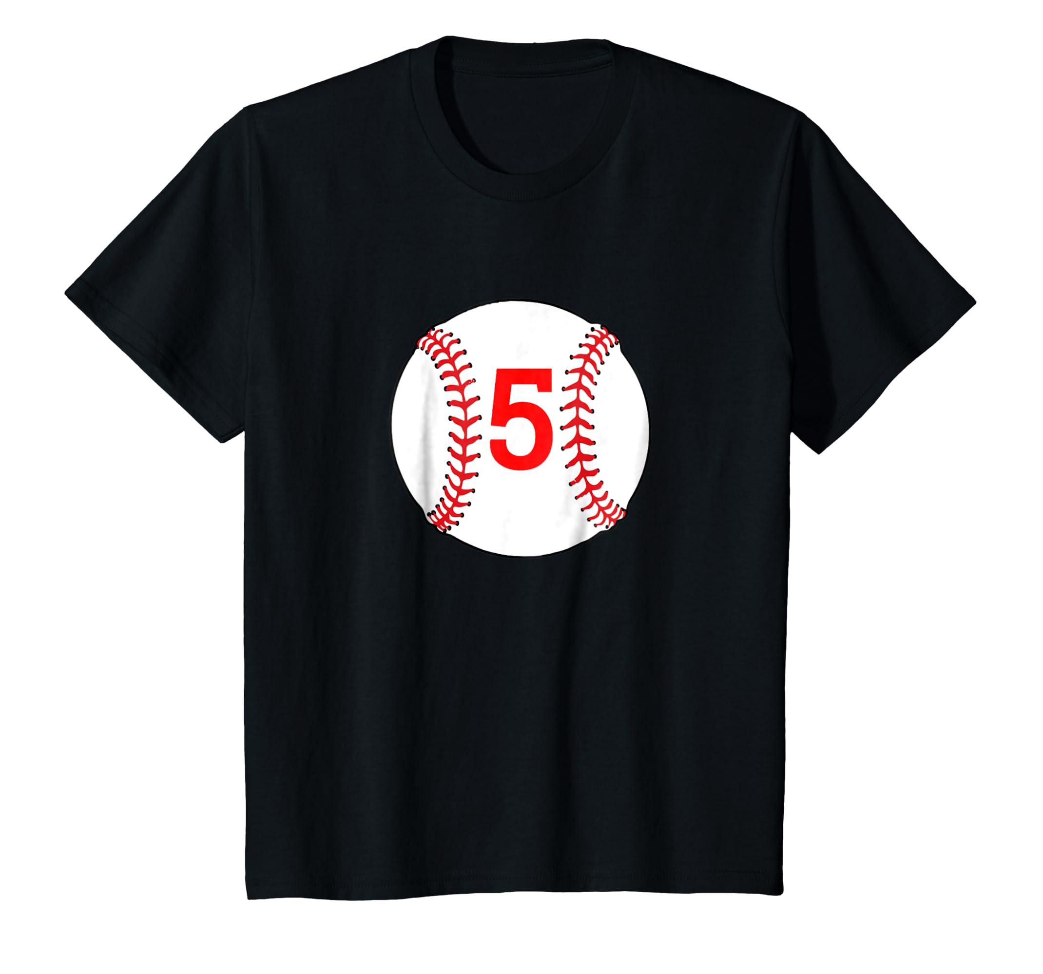 Amazon 5 Birthday Baseball T Shirt Clothing