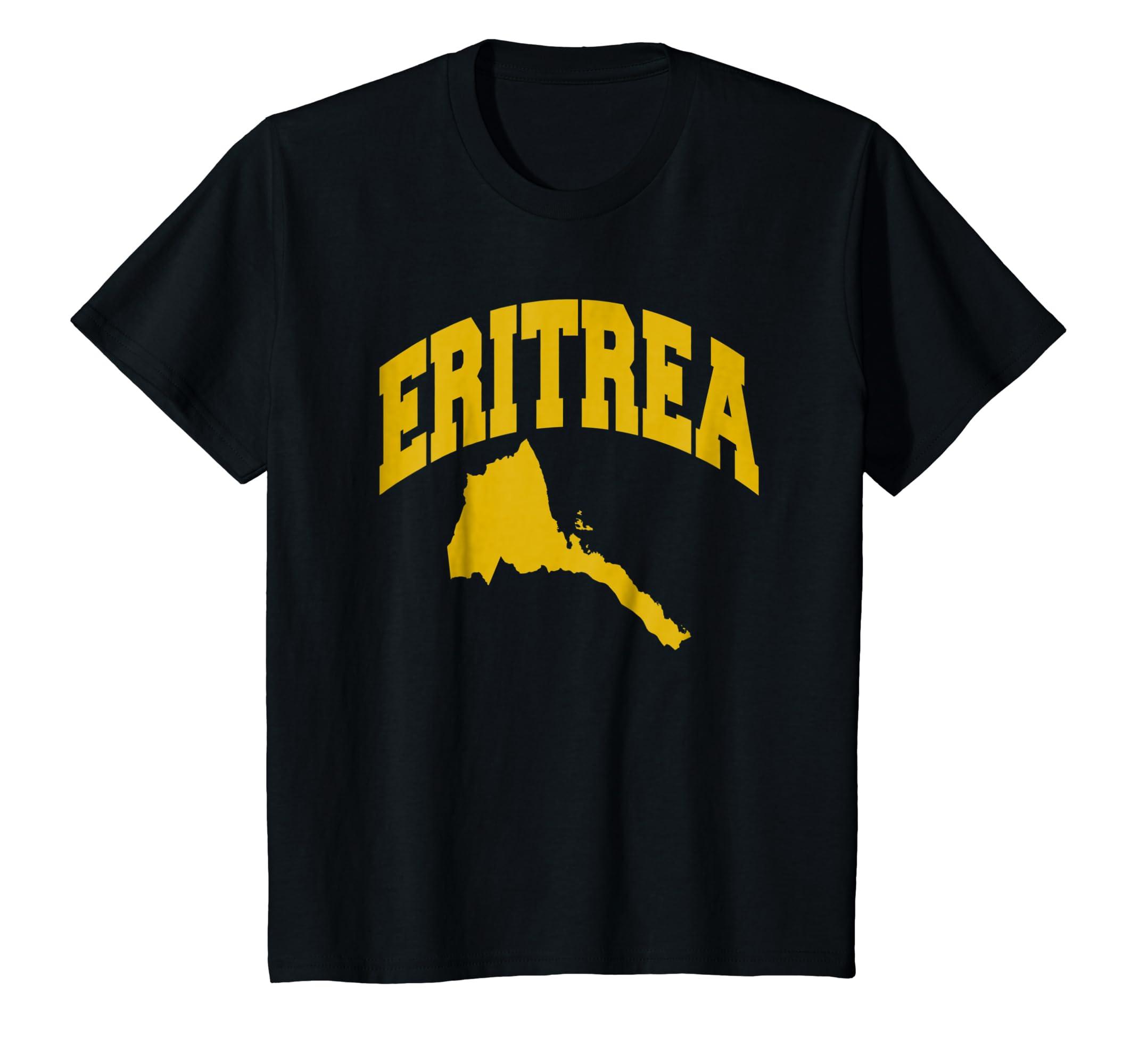 Eritrean pride I love Eritrea flag map Africa t shirt-Awarplus