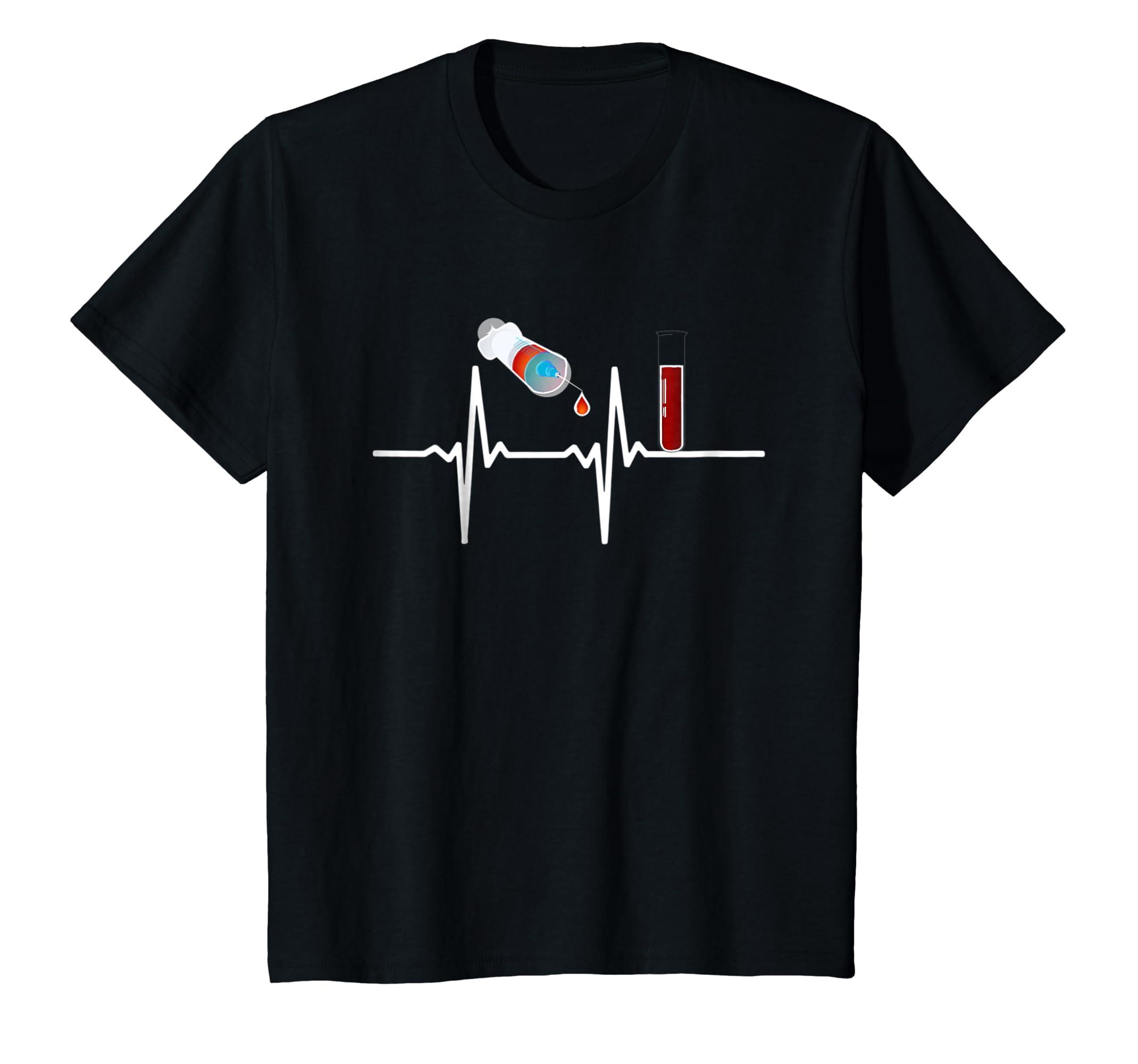Phlebotomist gift t shirt Phlebotomy Blood, heartbeats-Awarplus