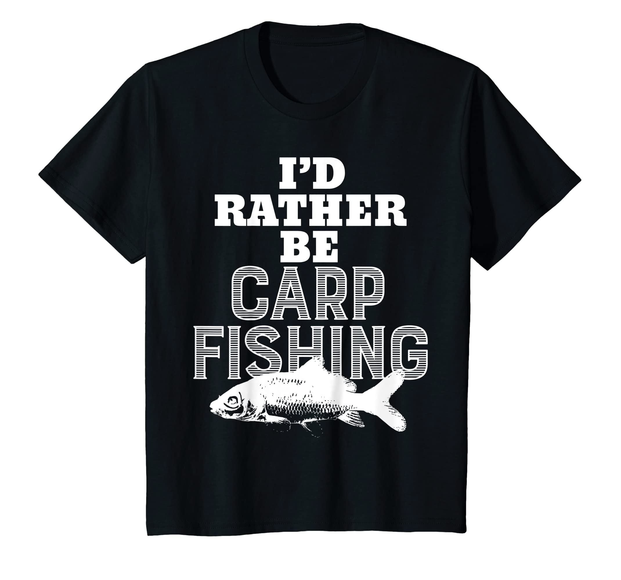 6ffbabad Amazon.com: I'd Rather Be Carp Fishing Funny Fishing T-Shirt: Clothing