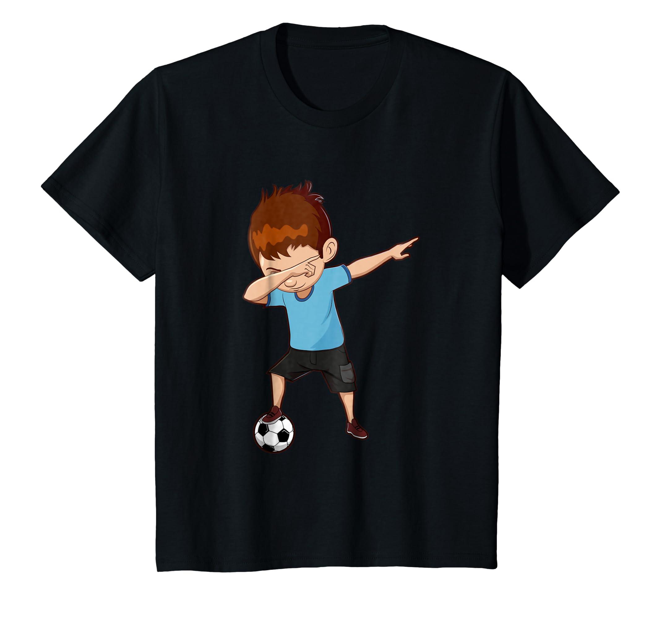 501c4c4fb Amazon.com  Soccer Shirt for Boys Funny Dabbing Tee Youth Toddler Gift   Clothing
