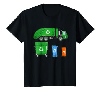 ab4136485 Image Unavailable. Image not available for. Color: Kids Garbage Truck Shirt  ...