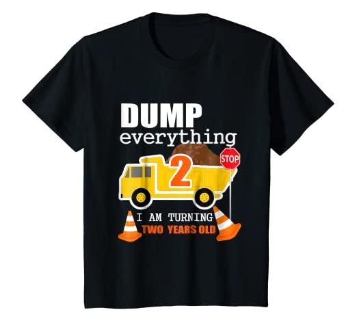 c05e5d2c429 Image Unavailable. Image not available for. Color  Kids 2nd Truck Theme Birthday  Party Gift Shirt ...