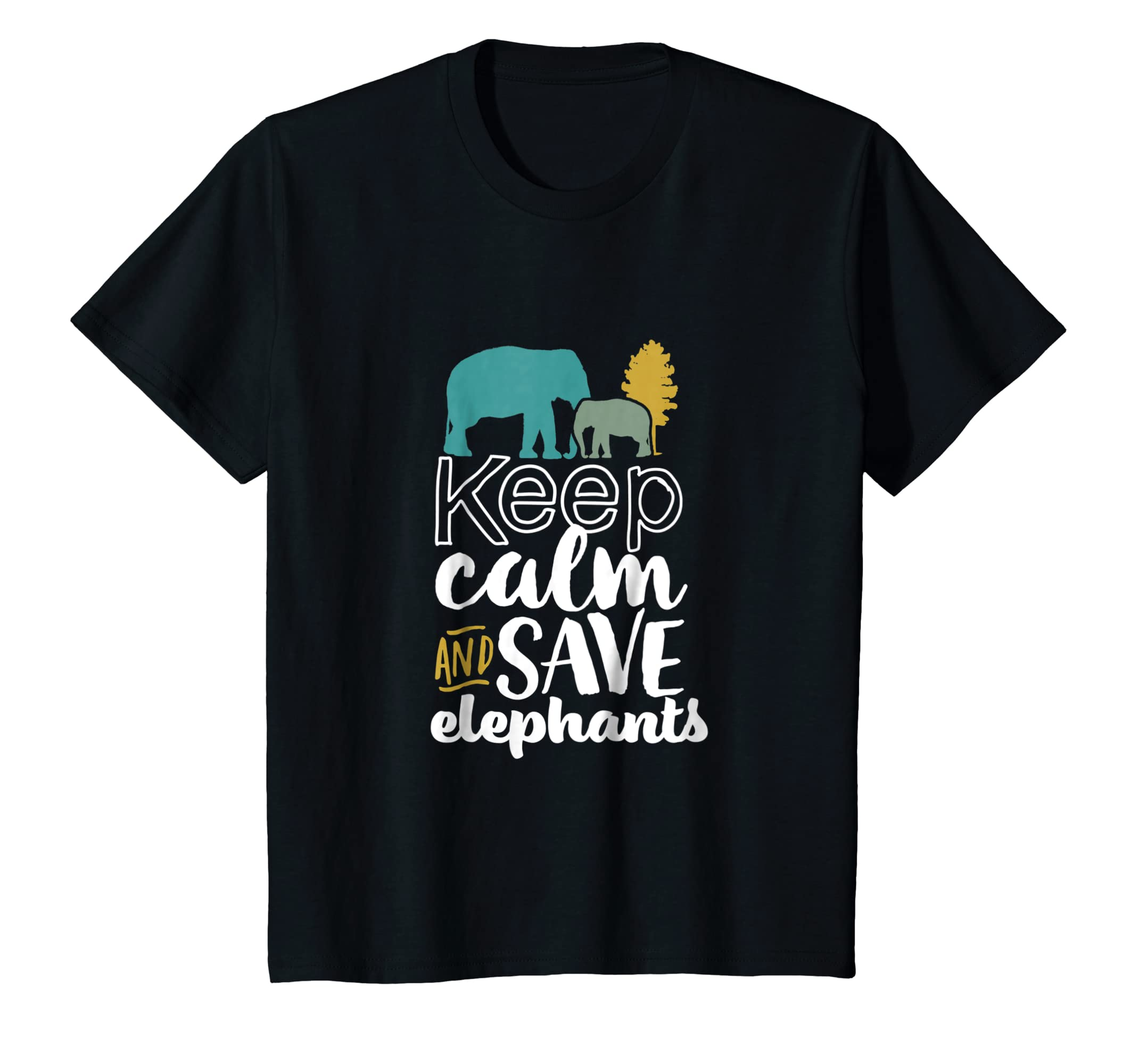 22060431d8b890 Amazon.com  Keep Calm and Save Elephants T-shirt for Wildlife Activist   Clothing
