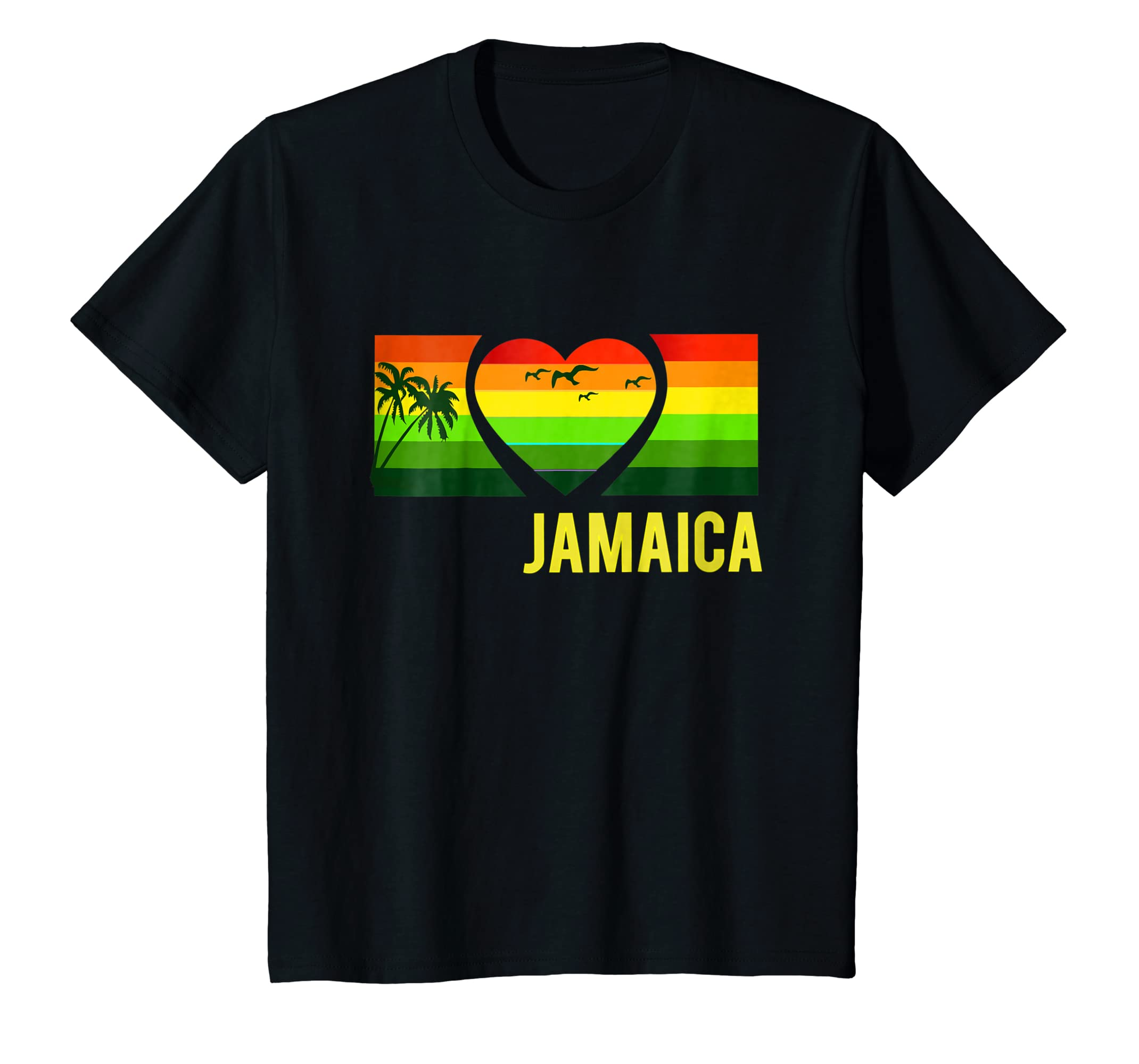 Amazon.com  Sunset Jamaican Vacation T-Shirt Rasta Reggae Style Shirt   Clothing 0a3ea1a5a