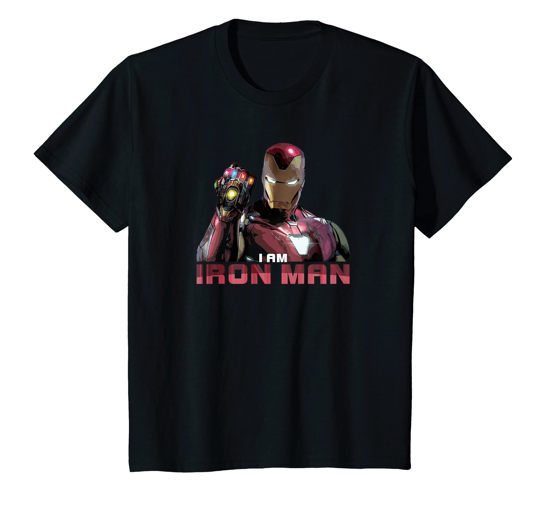 6c8b70f4 Amazon.com: Marvel Avengers: Endgame I am Iron Man T-Shirt: Clothing