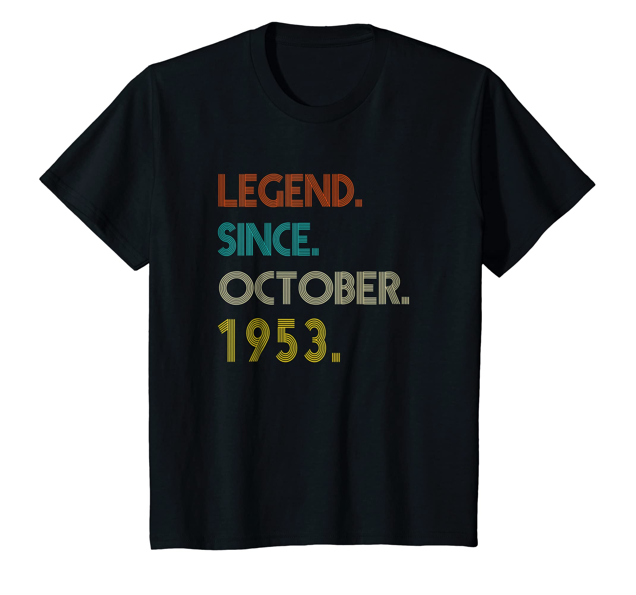 Born In October 1953 Birthday Gift 65 Year Old T shirts