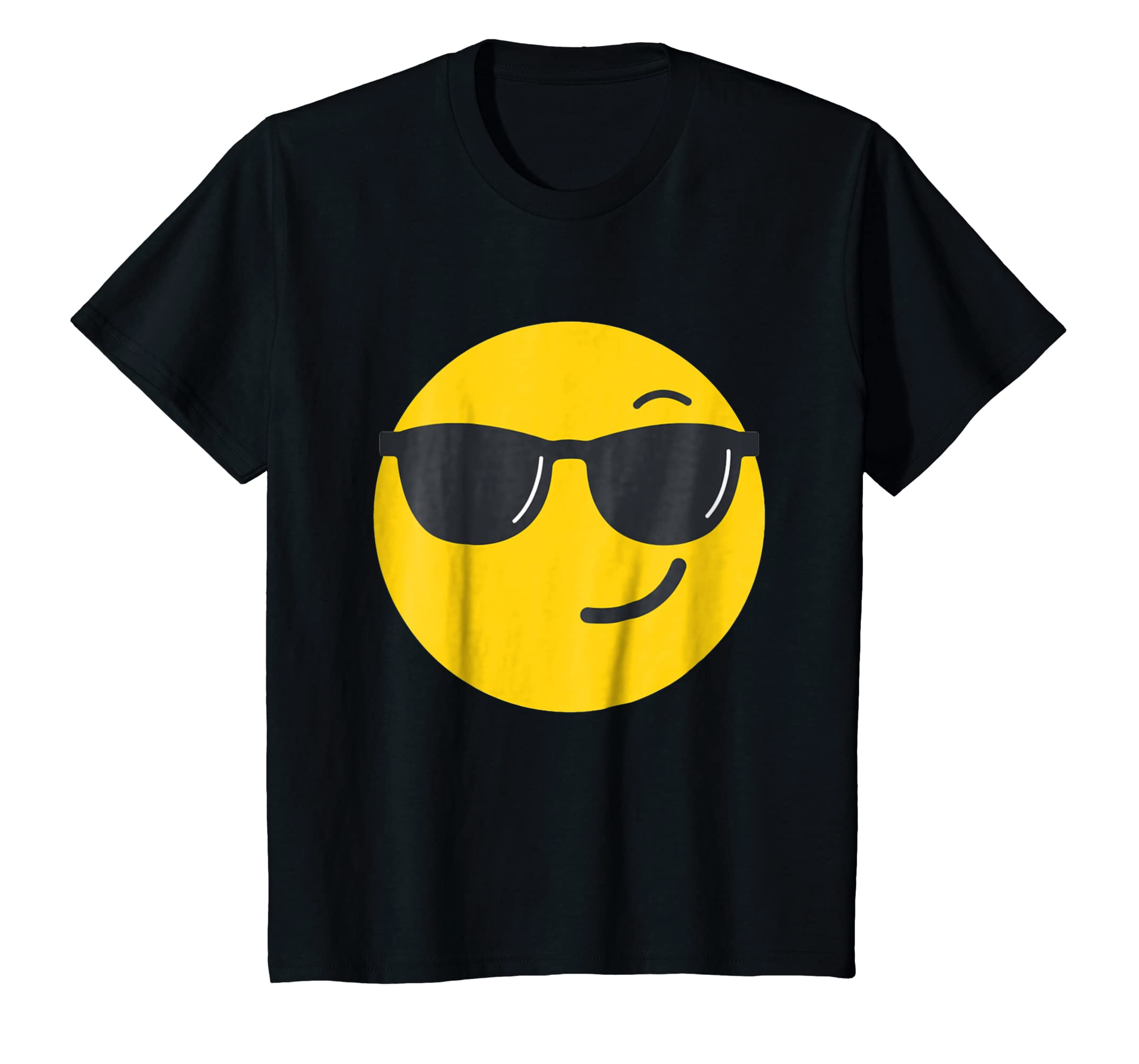 Amazon.com: Emoji Face - Sunglasses Face costume T-Shirt ...