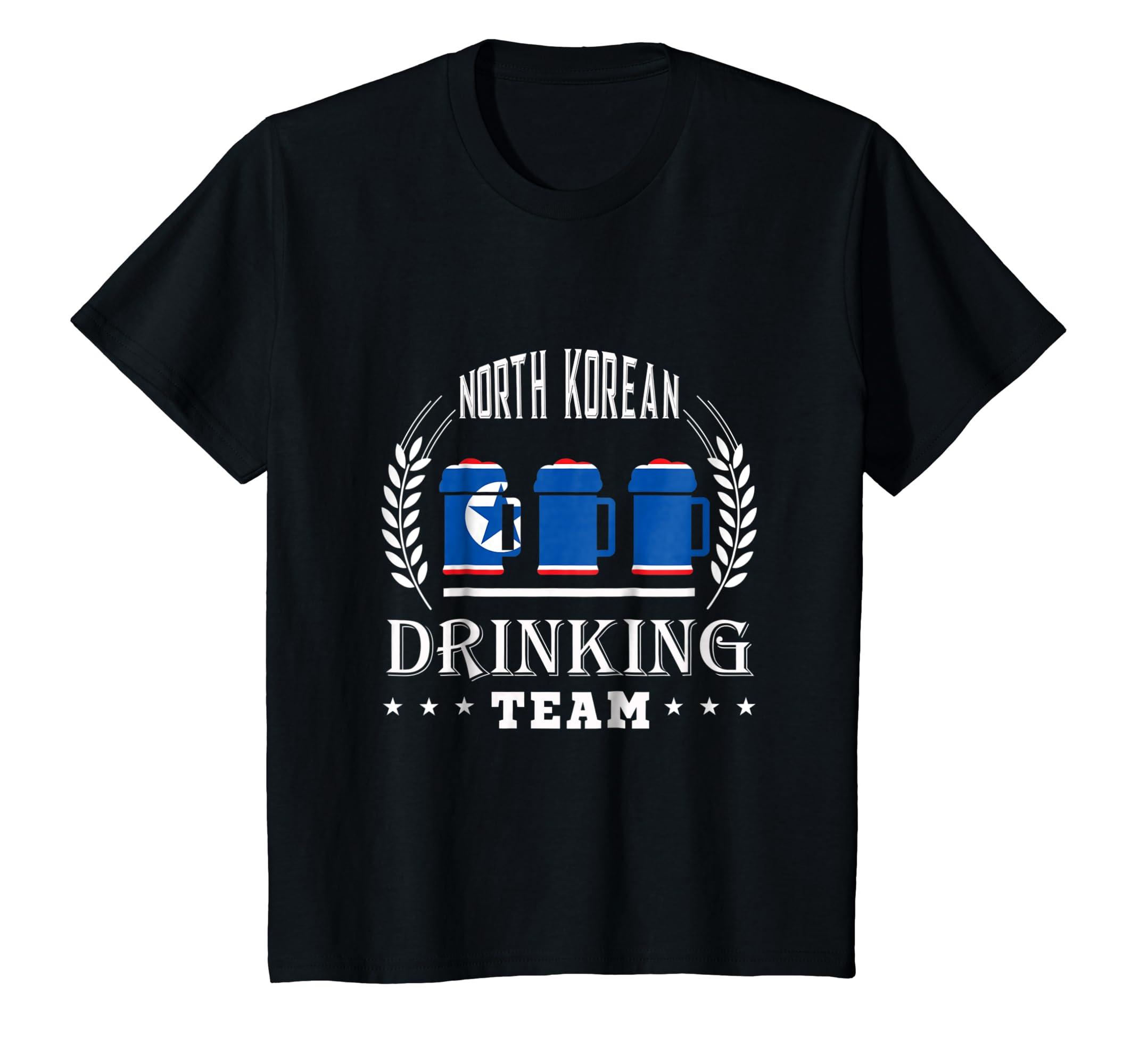 Beer North Korean Drinking Team Casual North Korea Flag T Sh-Awarplus