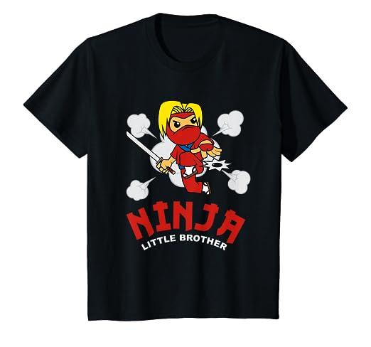 Amazon.com: Kids Ninja Little Brother T-Shirt - Martial Arts ...