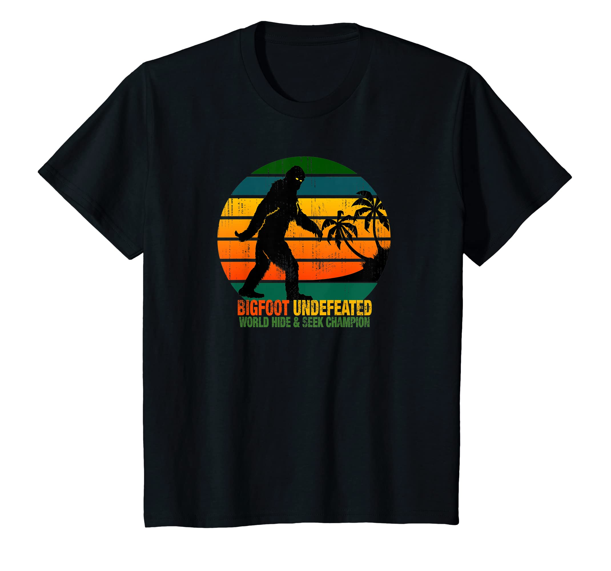 bc17bd28 Amazon.com: Bigfoot Undefeated World Hide & Seek Champion T Shirt: Clothing