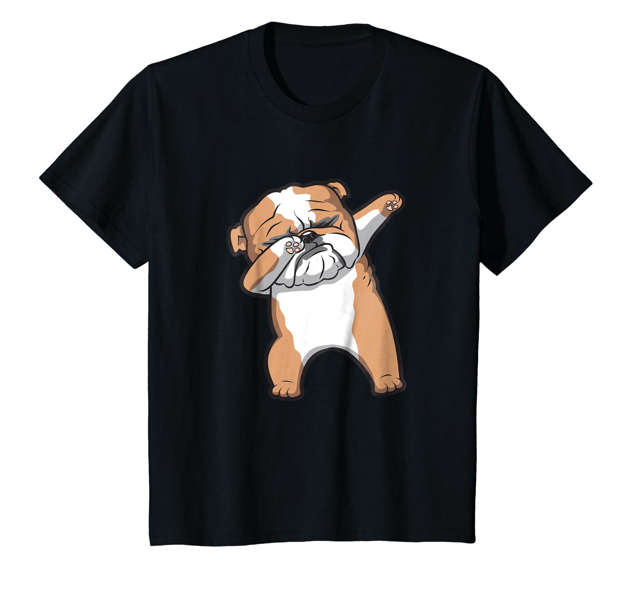 4ff18e66 Amazon.com: English Bulldog Cute Dabbing Funny Dab Dance T-Shirt: Clothing