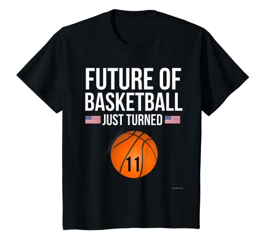 Image Unavailable Not Available For Color Kids 11th Birthday Basketball T Shirt 11 Year Old Gift