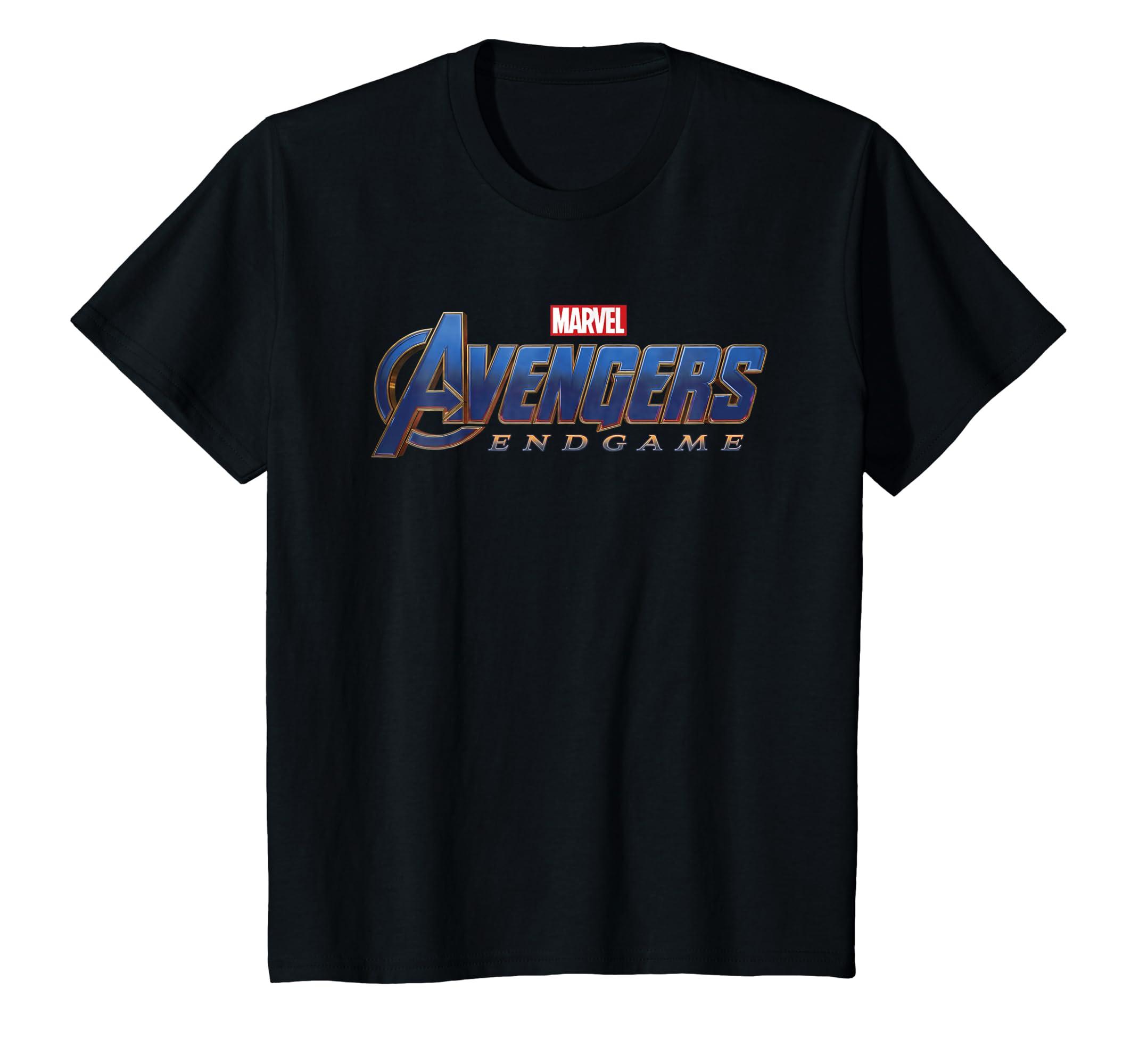 8c20d0db7de Amazon.com  Marvel Avengers Endgame Movie Logo Graphic T-Shirt  Clothing