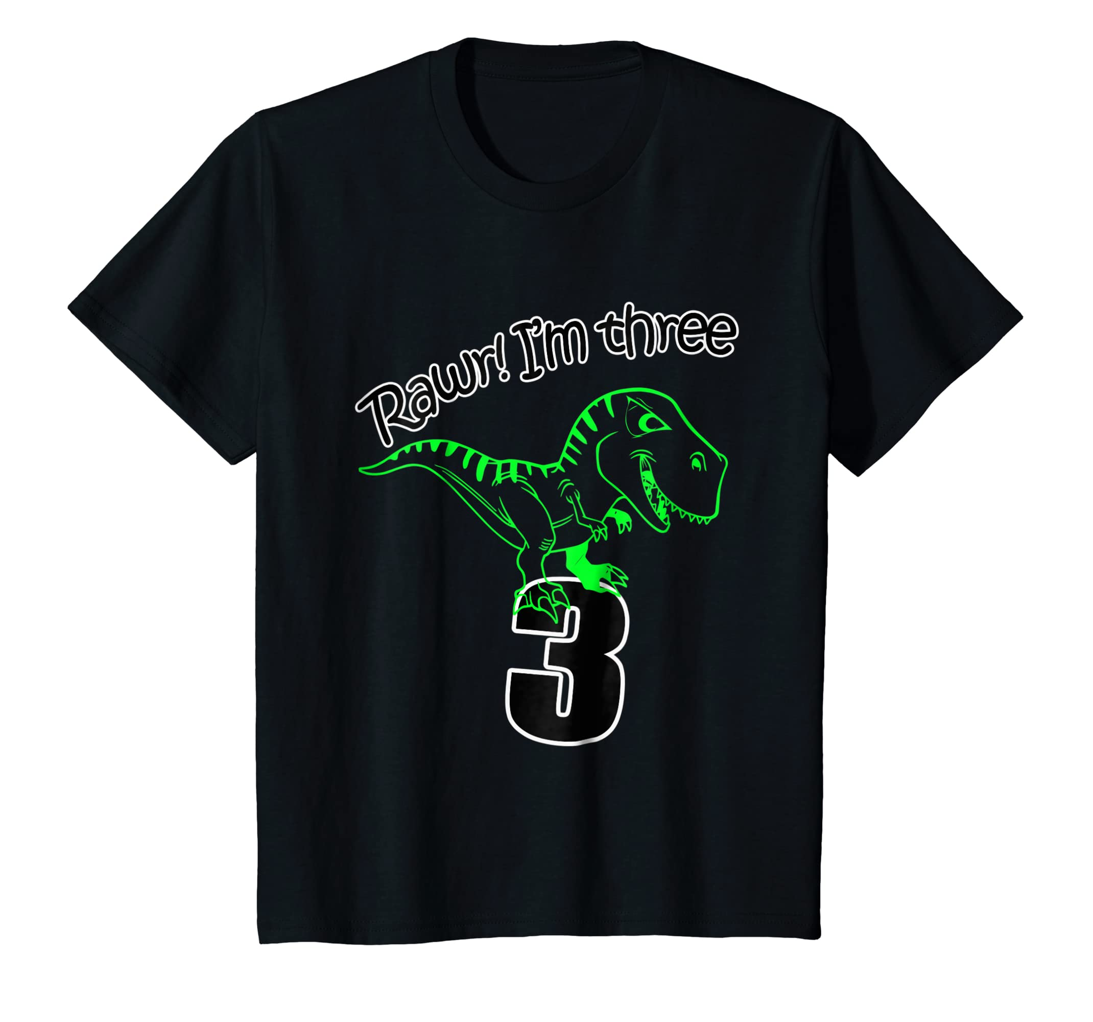 Amazon Kids 3rd Birthday Dinosaur T Shirt For 3 Year Old Boys Clothing