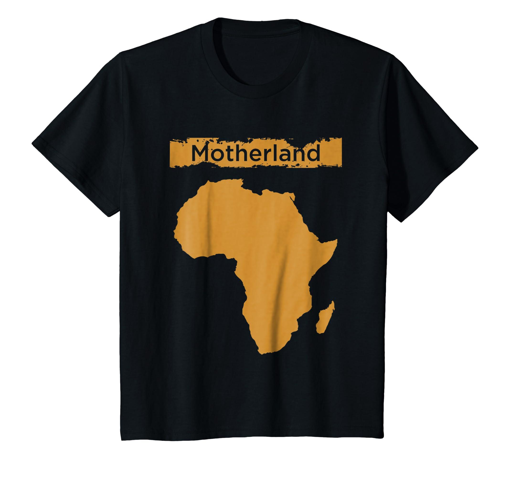 Amazon Motherland Africa Map Creative T Shirt Design Clothing
