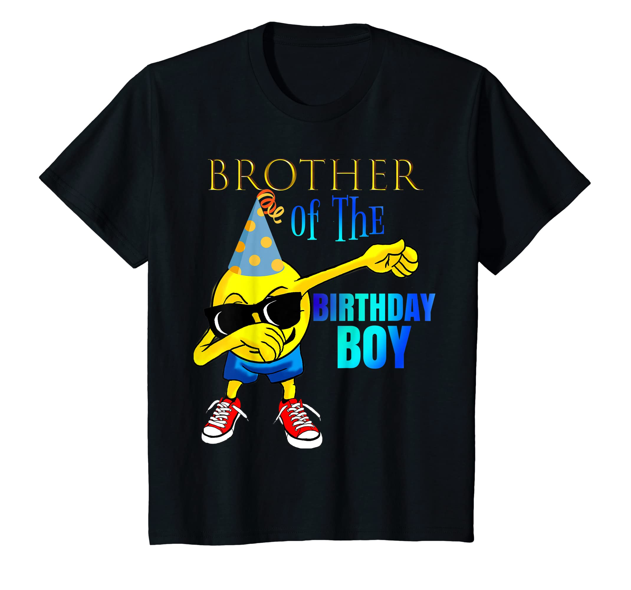 Amazon Dabbing Emoji BROTHER Of Birthday Boy Shirt Party Outfit