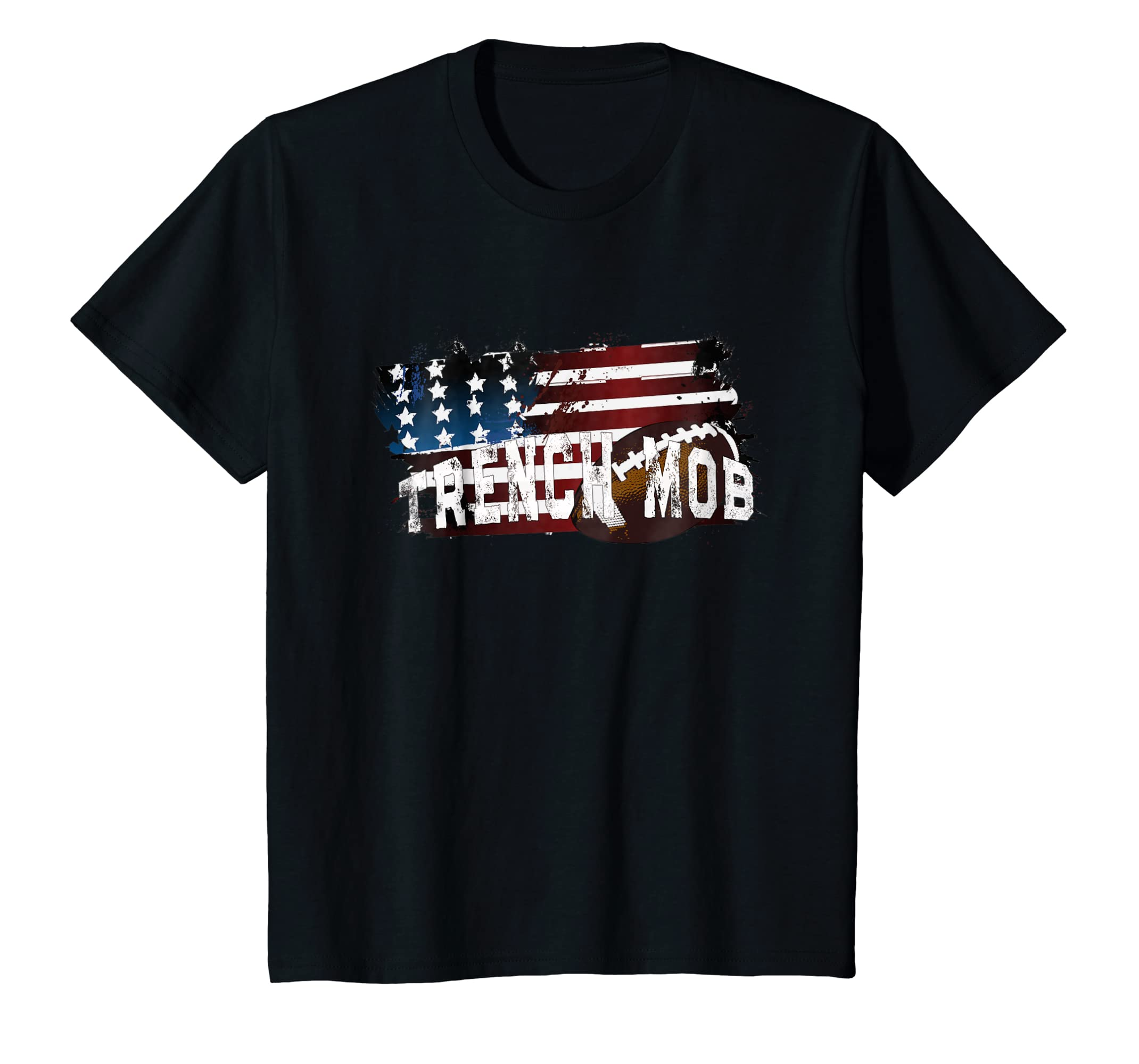 fb3bdf5b Amazon.com: Trench Mob - Football Lineman T-Shirt: Clothing