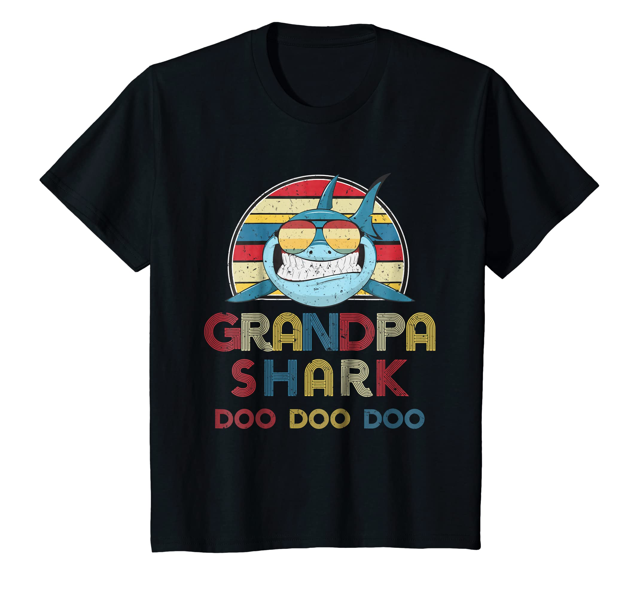 Retro Vintage Grandpa Sharks Tshirt gift for Mens