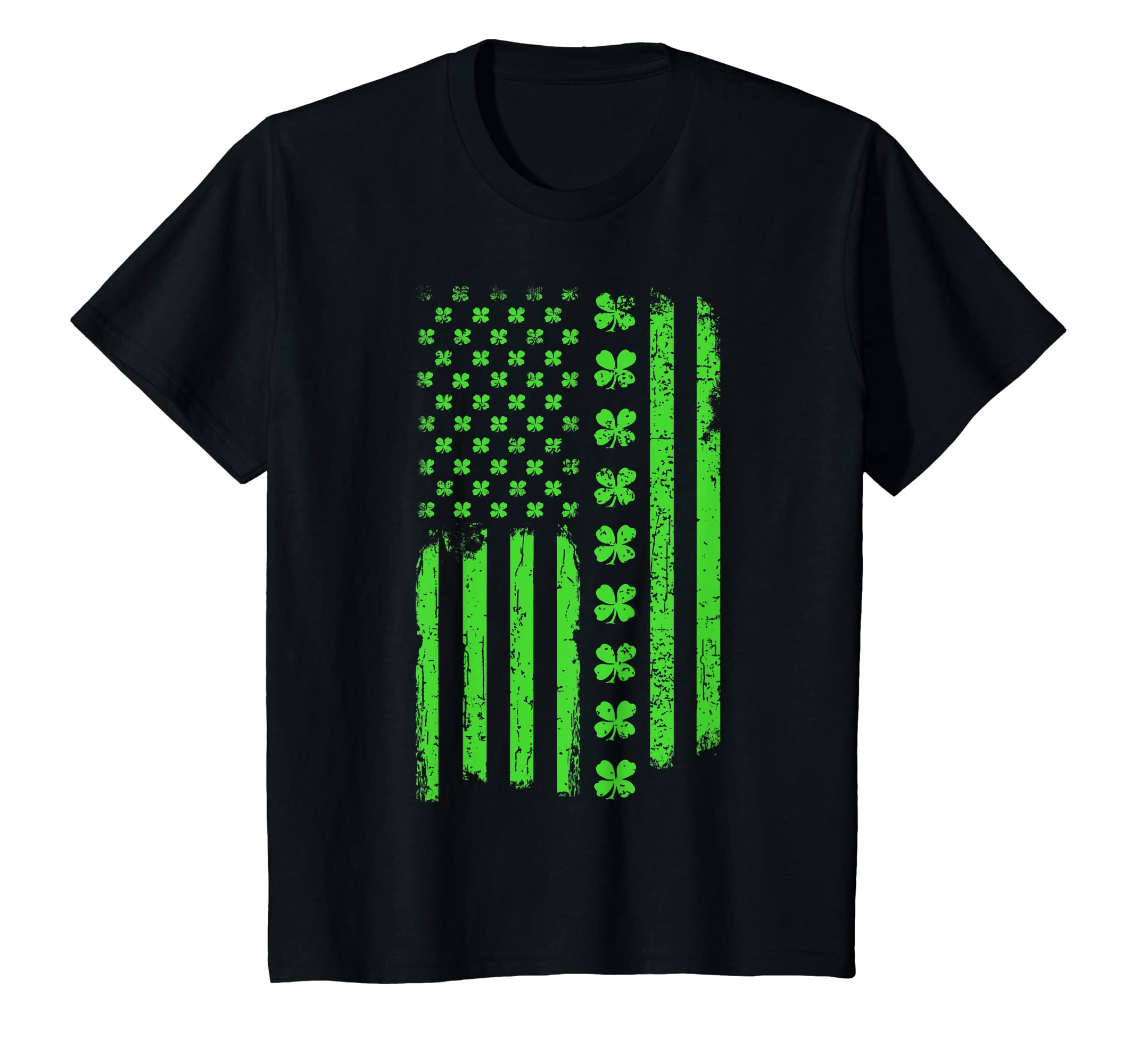 fd806e22 Amazon.com: St Patricks Day Irish American Flag T-Shirt: Clothing