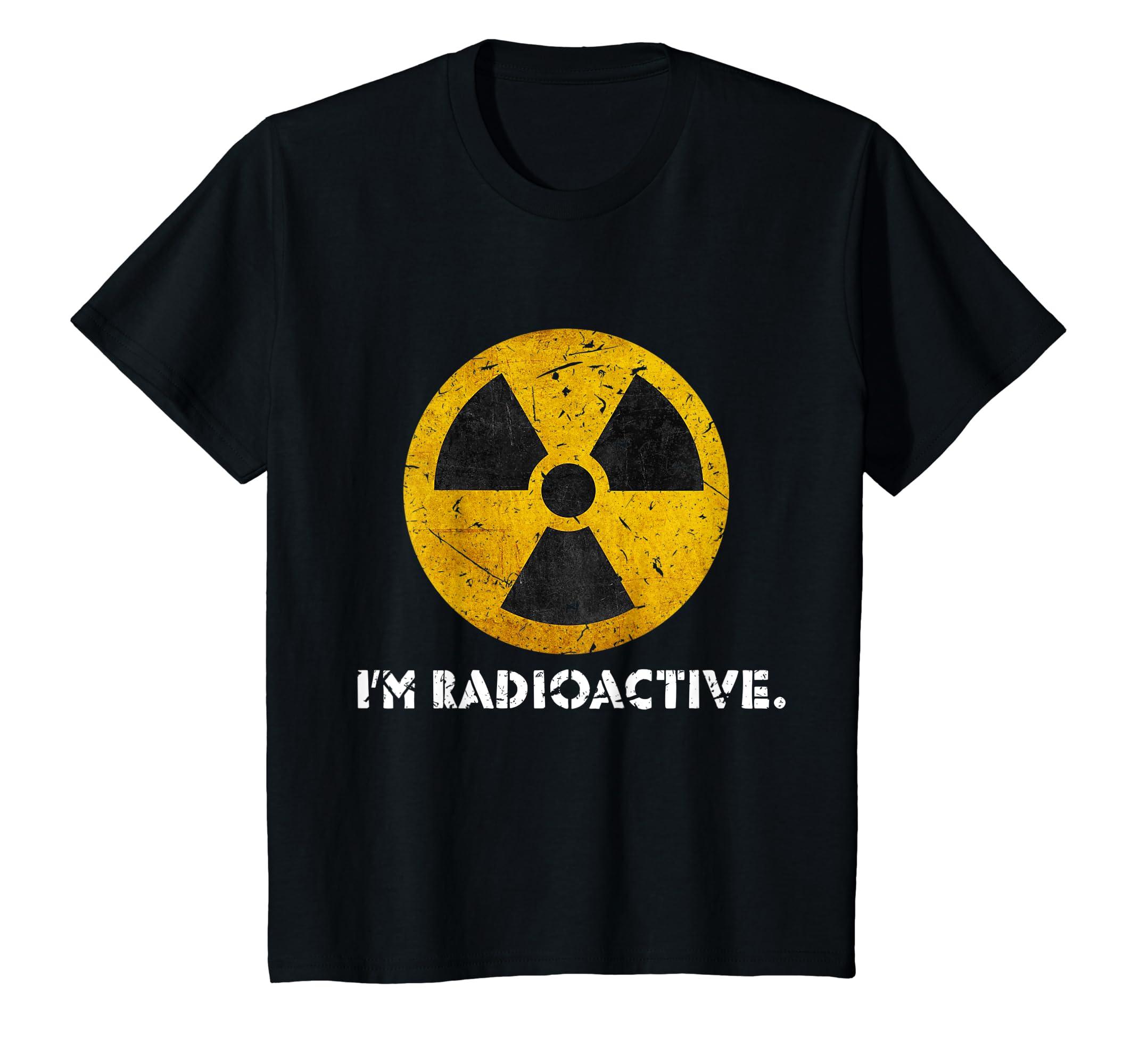 6ca4c731eebc5 Radioactive Shirt - Funny Tshirt for Men, Boys and Kids