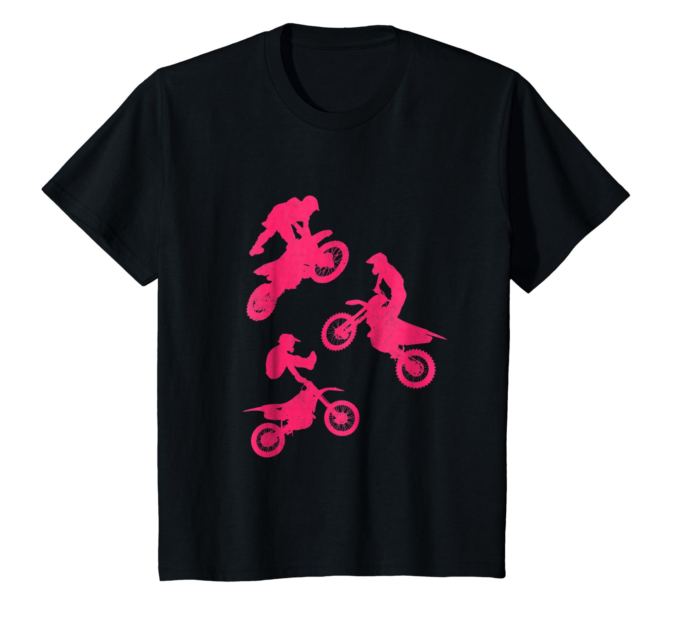 495e202ef Amazon.com  Kids Dirt Bike Shirt for Girls   Toddler Gift Motocross Pink   Clothing