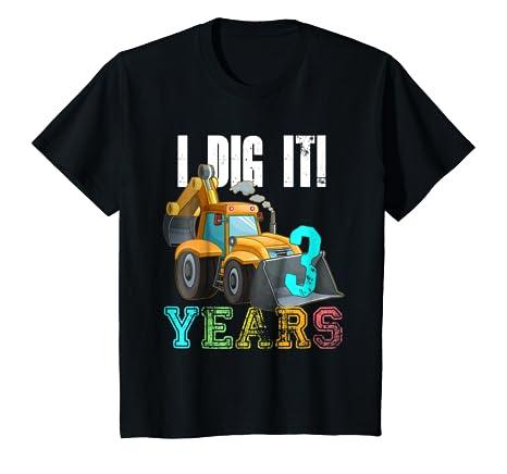 Amazon Kids 3rd Birthday Shirt Boy Bulldozer Construction