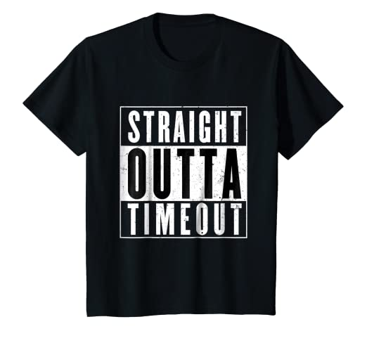 369f874b5 Image Unavailable. Image not available for. Color: Kids Straight Outta  Timeout Toddler Childs Youth T Shirt