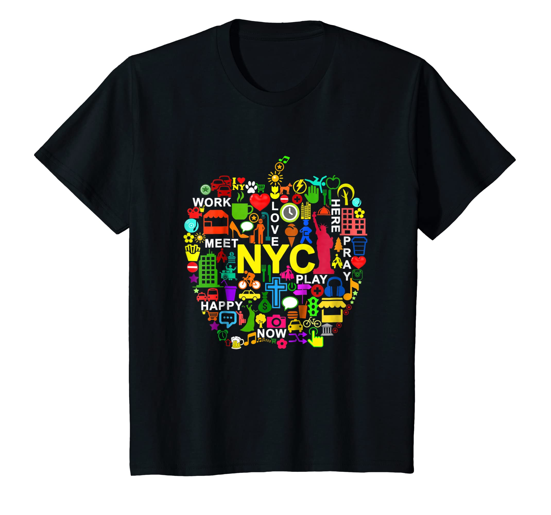 Amazon.com  I LOVE NYC T-Shirts NEW YORK CITY BIG APPLE  Clothing f2fd9c0b85e