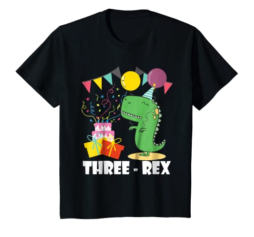 Image Unavailable Not Available For Color Kids Three Rex Birthday Shirt Dinosaur 3 Year Old Party
