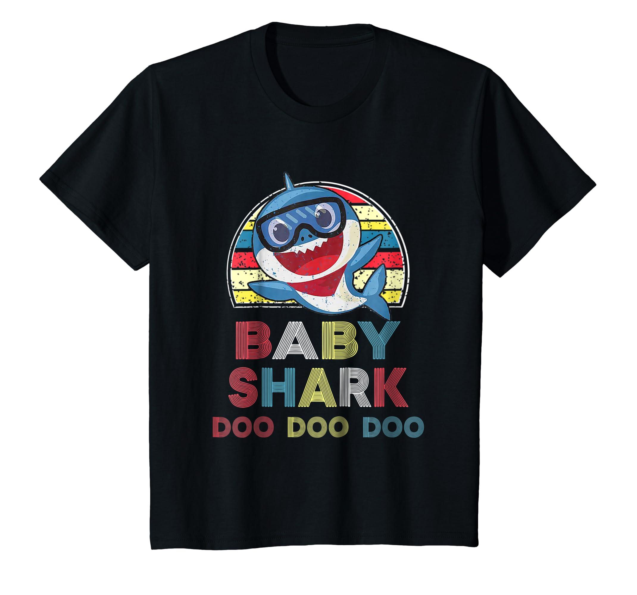 61284312 Amazon.com: Kids Retro Vintage Baby Shark Doo Doo Doo T-shirt Christmas  Gift: Clothing