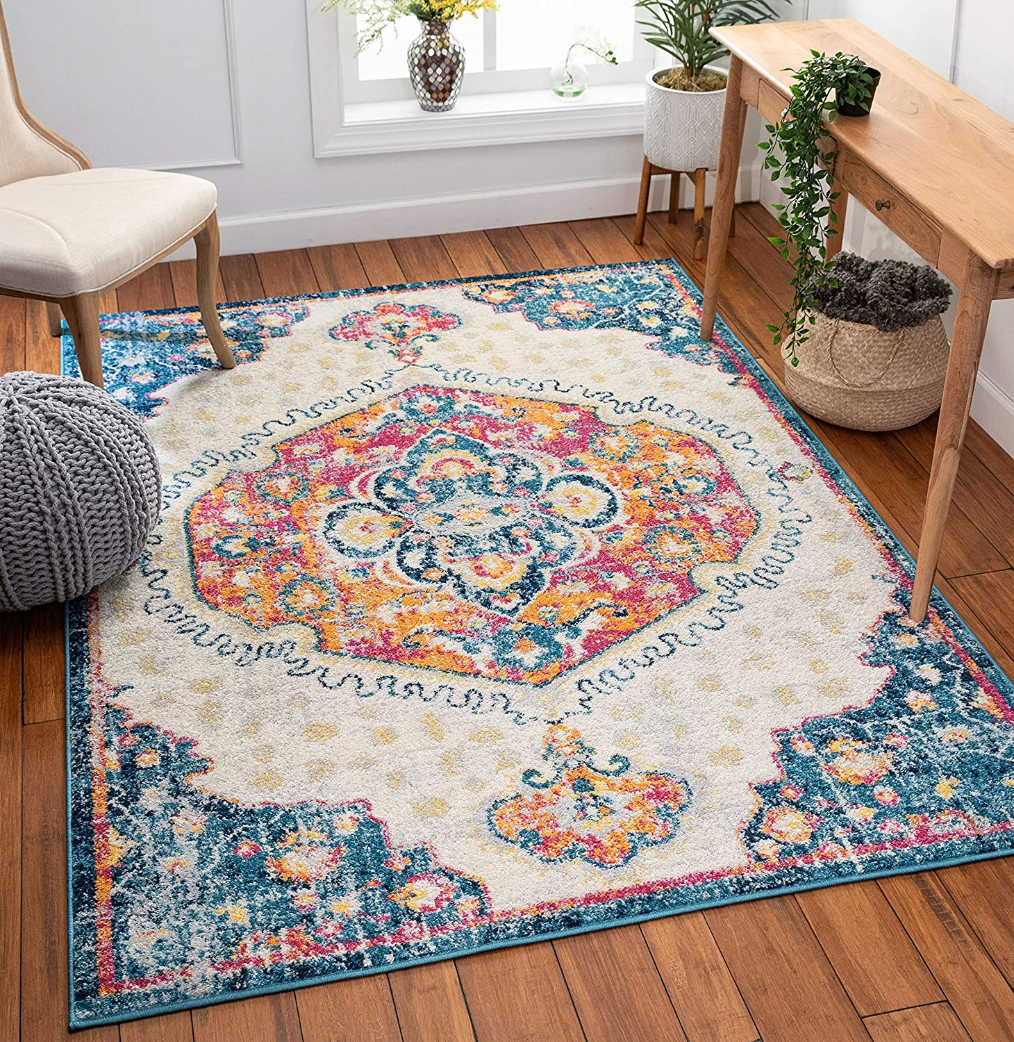 Well Woven Cato Fuschia Vintage Medallion Area Rug 5x7 Bohemian Max 86% Animer and price revision OFF