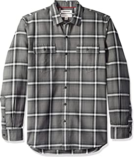 Amazon Brand - Goodthreads Men's -Fit Plaid Twill Shirt