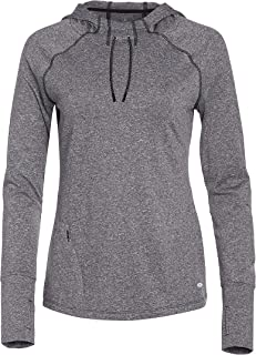 Ladies Long Sleeve Hooded Top with Side Pulls