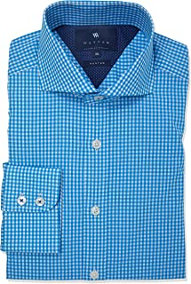 Wayver Aqua Poplin Gingham Check Business