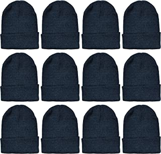 Winter Beanies, Wholesale Bulk Cold Weather Thermal Warm Stretch Skull Cap, Mens Womens Unisex Hat