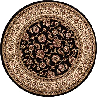 Noble Sarouk Black Persian Floral Oriental Formal Traditional 4 Round (3'11
