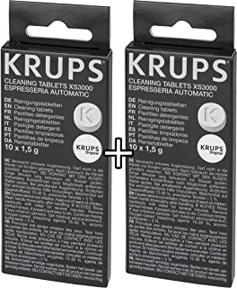 KRUPS XS3000 Cleaning Tablets for KRUPS Fully Automatic Machines (2 Pack)