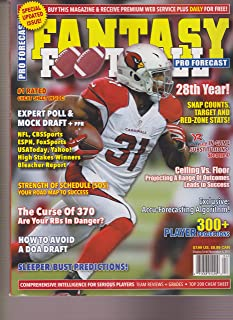 PRO FORECAST FANTASY FOOTBALL MAGAZINE 2017
