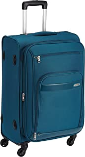 Aristocrat Polyester 76 cms Blue Soft Sided Suitcase (STVEYWH76BLU)
